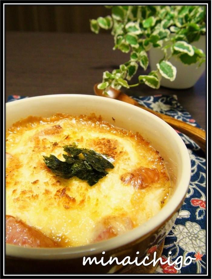 3番目におすすめする餅の人気アレンジレシピは「おもち和風グラタン」。 残った餅が大変身しちゃう餅の和風グラタンレシピ。